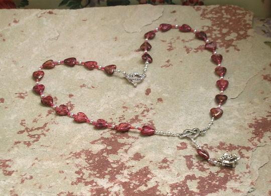 glass aphrodite necklace