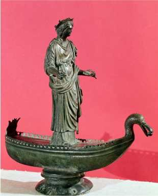"Sequana in her duck boat. By ""goddess a day"" [Public domain], via Wikimedia Commons"